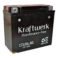 Аккумулятор мото Kraftwerk YTX20L-BS 18A/h 210A