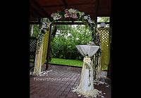 Оформление выездной церемонии, оформление свадьбы цветами, свадебная арка