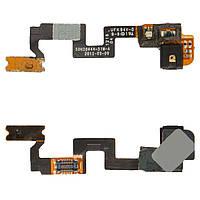 Шлейф для HTC One X S720e G23, кнопки включения, подсветки дисплея, с компонентами, оригинал