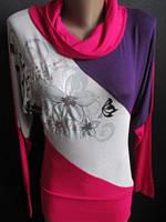 Женская туника с цветами, фото 1