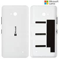 Задняя панель корпуса для Microsoft Lumia 640 (Nokia), c боковыми кнопками, белая, оригинал