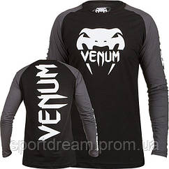 Лонгслив Venum Pro Team 2.0 Long Sleeve T-Shirt Black Grey