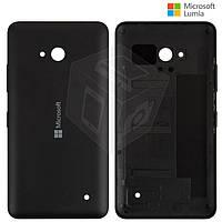 Задняя панель корпуса для Microsoft Lumia 640 (Nokia), c боковыми кнопками, черная, оригинал