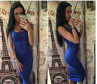 """Женское платье """"Майка"""" синее OS-278"""