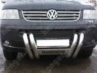 Защита переднего бампера Volkswagen Transporter, бабочка