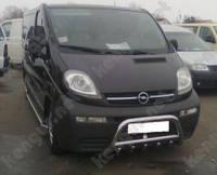 Защита переднего бампера Opel Vivaro, с трубой и грилем