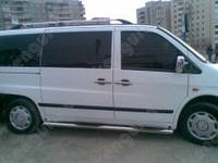 Защитные пороги Mercedes-Benz Vito, труба