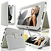 Белый чехол для Galaxy Tab 3 8.0  из синтетической кожи