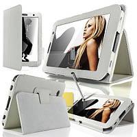 Белый чехол для Galaxy Tab 3 8.0  из синтетической кожи, фото 1