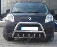 Защита бампера Renault Kangoo, с грилем и круглой перемычкой