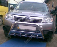 Защита бампера Subaru Forester, с грилем и с надписью