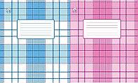 Тетрадь 12 листов клетка Тетрада ФОН офсет (простая обложка) уп25 ящ700