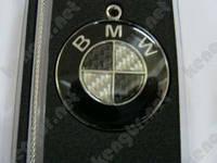 "Брелок для ключей авто ""BMW"" (карбон, на тросике)"