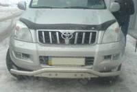 Защита переднего бампера Toyota Prado, изогнутый ус
