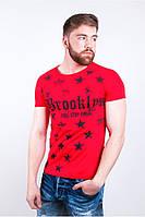 Футболка мужская с принтом 157G001 красная качественная модная (стильная, интернет магазин)
