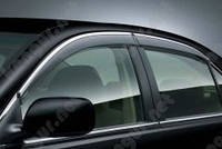 Ветровики с хромированной окантовкой на авто Toyota Camry