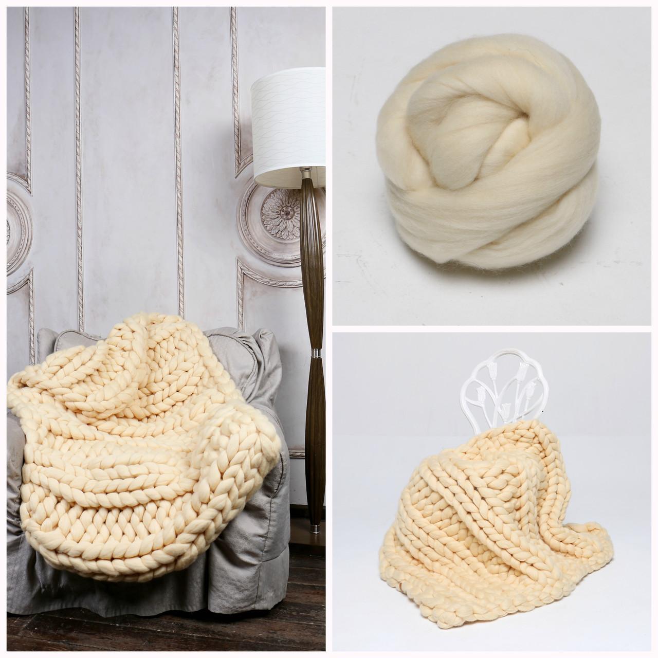 спицы для вязания пледа из толстой пряжи