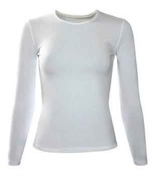 Женская двухслойная футболка с длинным рукавом (лонгслив) размер S