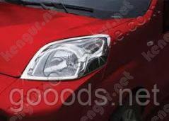 Хром накладки на фары Fiat Fiorino