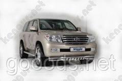 Защита переднего бампера Toyota Prado, двойная