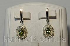 Серебряные серьги и кольцо с золотыми пластинами 375 пробы , фото 2