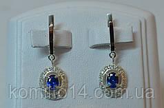 Серебряные серьги и кольцо с золотыми пластинами 375 пробы , фото 3