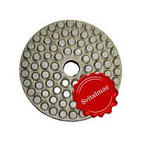 Алмазные полировочные резиновые пупырышки, бутсы Дельфин Ф160 мм. №300 для полировки габбро и гранита.