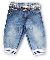 Капри детские для мальчиков джинс