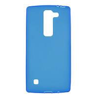 Чехол накладка для LG Spirit Y70 H422 силиконовый матовый, Синий