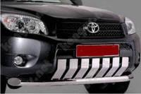 Защитная дуга бампера Toyota RAV4, одинарная с зубьями, без креплений