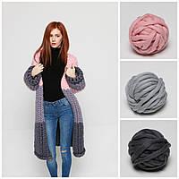 Набор для вязания из толстой пряжи (Кардиган-Пальто)
