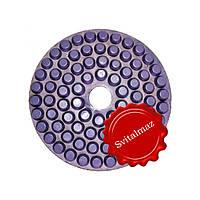Алмазные полировочные резиновые пупырышки, бутсы Дельфин Ф160 мм. №600 для полировки габбро и гранита.