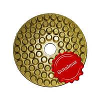 Алмазные полировочные резиновые пупырышки, бутсы Дельфин Ф160 мм. №1800 для полировки габбро и гранита.