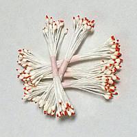 Тычинки для цветов бело-терракотовые 25 шт. (код 04917)