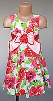 Платье летние для девочек с бантиками