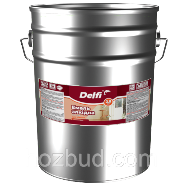 """Емаль алкідна ПФ-266 для підлоги ТМ """"Delfi"""" (червоно-коричнева) 25 кг"""