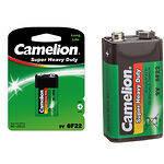 Батарейка CAMELION 6F22P-SP1G Green (Крона) (1шт/Shrink)