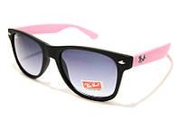 Солнцезащитные очки Ray Ben Retro 2140 С45 SM 02738, очки рей с розовыми дужками
