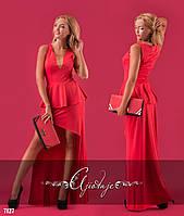 Платье с хвостом и баской