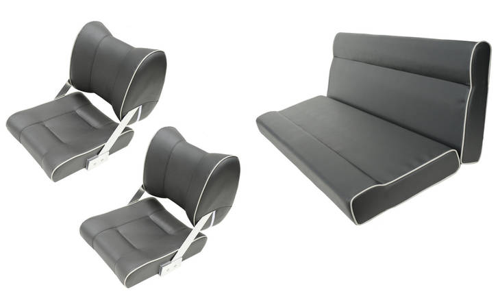 Комплект сидений для катера и лодки темно-серый, фото 2