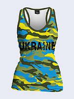 Майка 3D Україна камуфляж (борцівка)