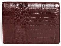 Классный мужской клатч, барсетка из натуральной кожи ISSA HARA CL1 (22-00) бордо