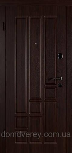 Двері вхідні металеві Титан темний горіх Двері Білорусії