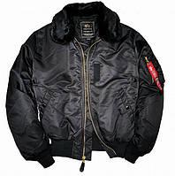 Летная куртка B-15 Alpha Industries (черная), фото 1