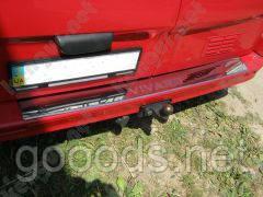 Хром накладка на задний бампер Opel Vivaro