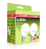 Промо-набір EUROLAMP LED Лампа G45 6W E27 4000K акція 1+1