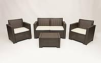 Комплект мебели из искусственного ротанга коричневый  ALABAMA-2, фото 1
