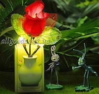 Светильник ночник Роза. Лампа ночная