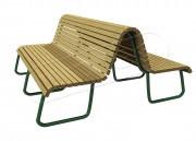 Уличные деревянные скамейки и лавочки