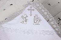 Крестильная пеленка белая